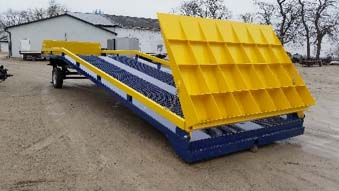 The standard M35000 Adapt-A-Ramp folded up for storage.