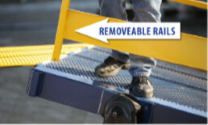 LD 5000 ramp removeable rails