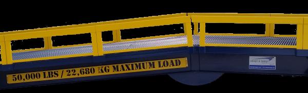 The Adapt-A-Ramp HD50 Series guard rails