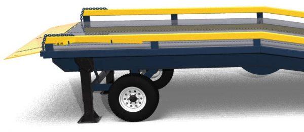 HD50 series mobile yard ramp level off